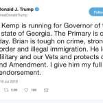 Trump Endorses Brian Kemp: