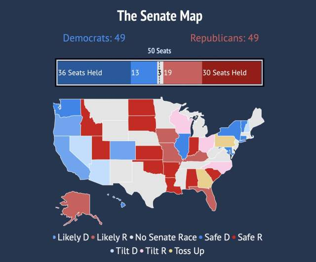 Georgia and Pennsylvania key to Senate control
