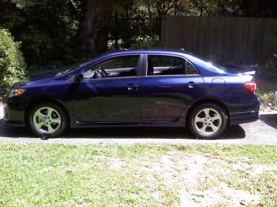2012 Toyota Corolla S nautical blue
