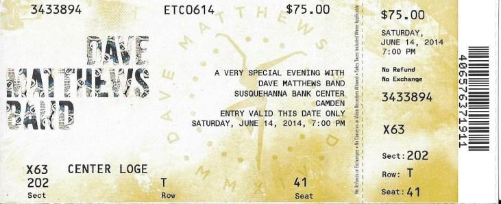 DMB Tour, 06/14/2014, Camden, NJ