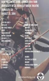 DMB Tour Set List 8/23/14