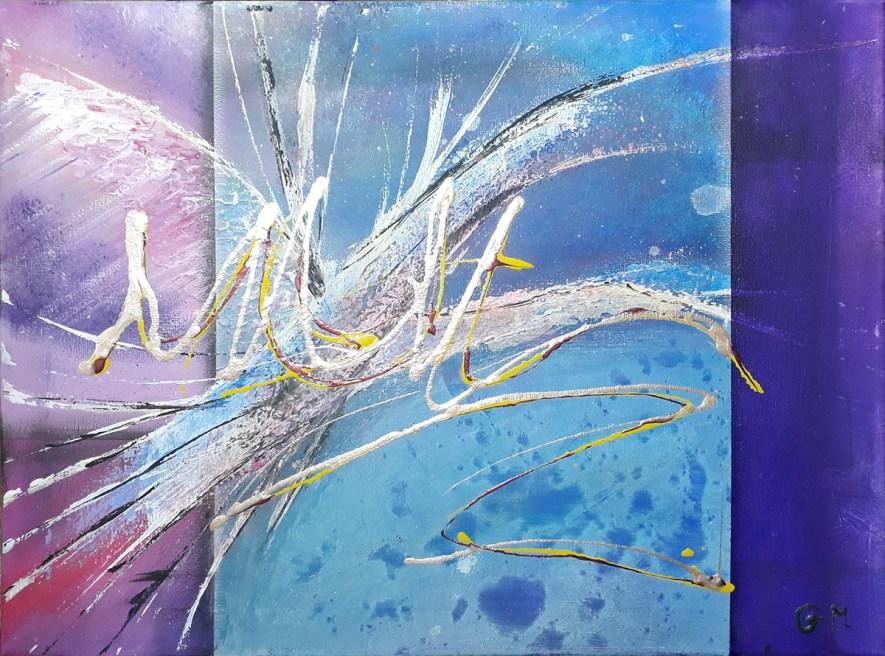 """#53 """"Veil"""" Acrylique sur toile, 30x40"""
