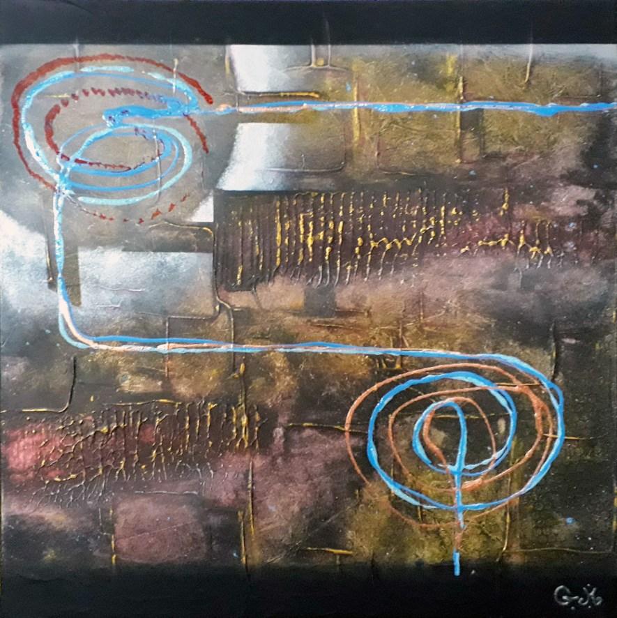 "#78 ""Ouranos"" Acrylique sur toile, 50x50"