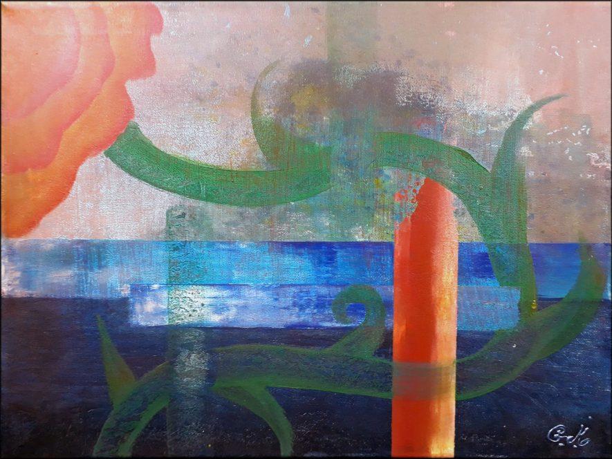 """#109 """"Évanescente"""" Acrylique sur toile, 30x40"""