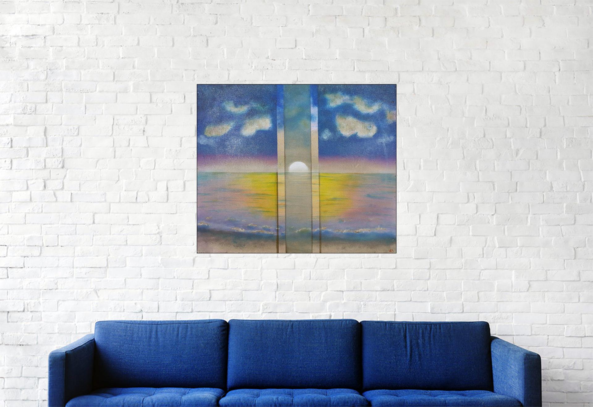 """#146 """"Iboga"""" Acrylique sur bois, 45 x 53 cm"""