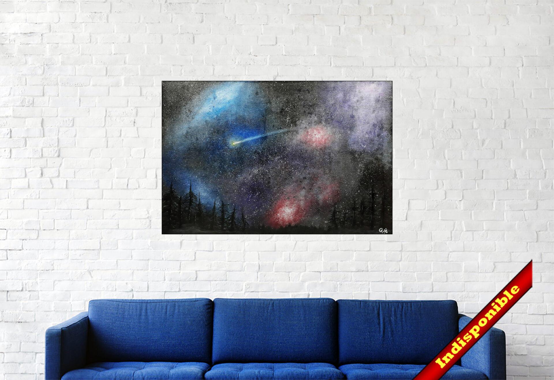 """#152 """"Hope"""" Acrylique sur toile, 40 x 60 cm"""