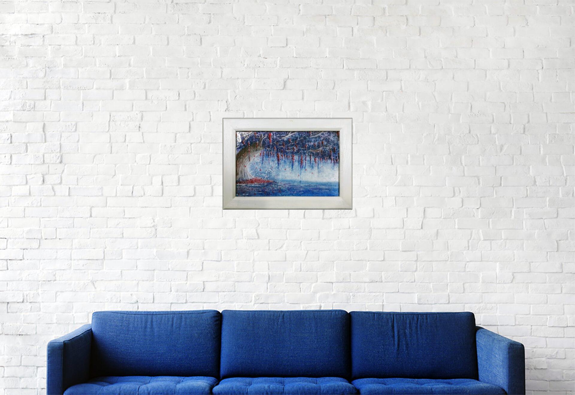 """#155 """"Sérénité"""" Acrylique sur toile, 24 x 34 cm"""