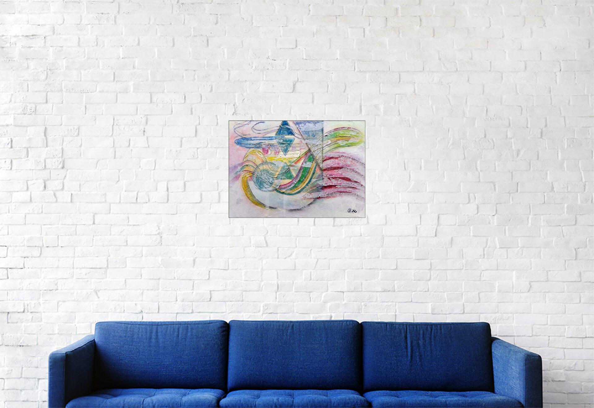 """#160 """"Onirisme"""" Acrylique sur toile, 25 x 35 cm"""