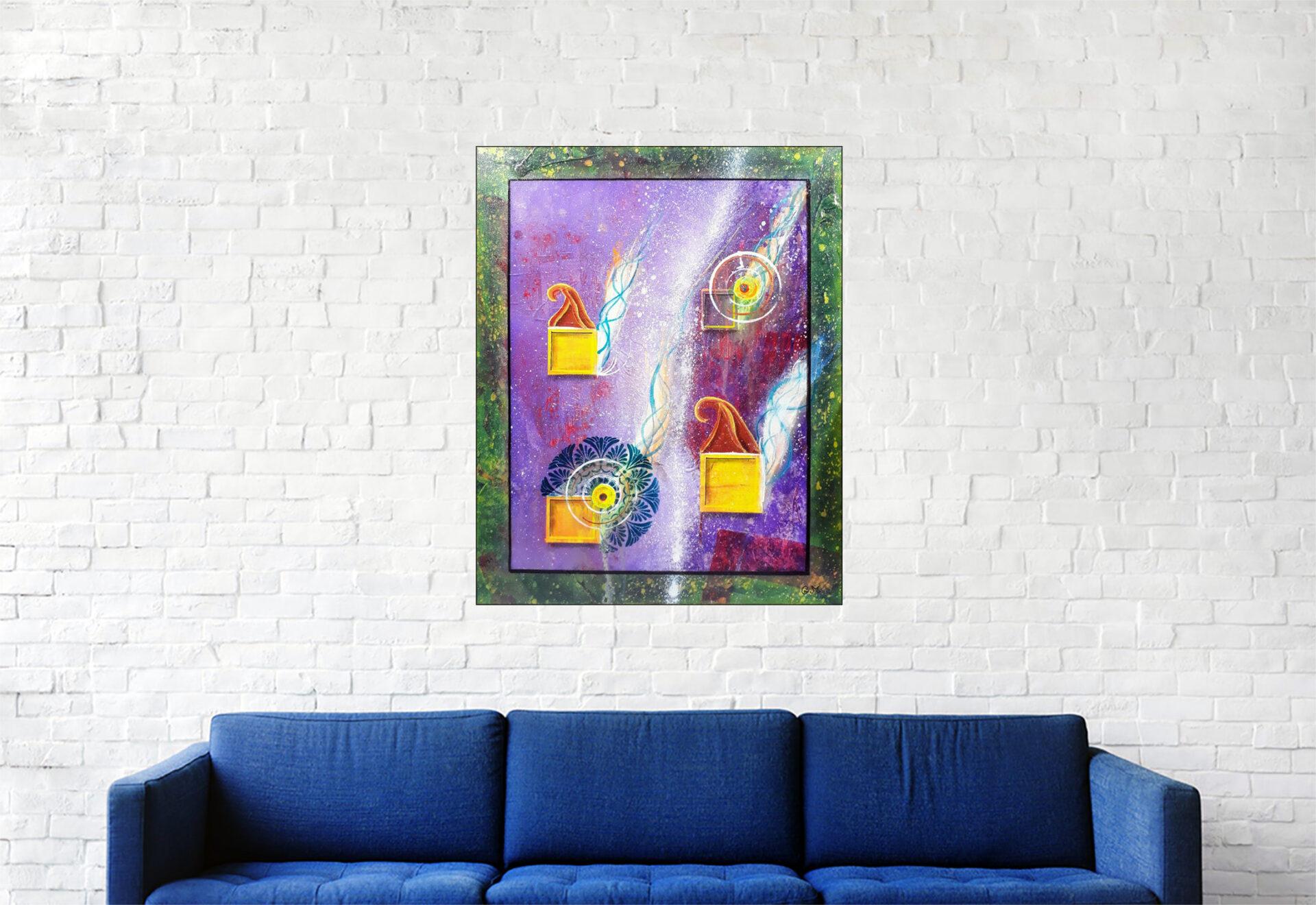 """#167 """"Sens Nomun"""" Acrylique sur toile, 50x40 cm"""