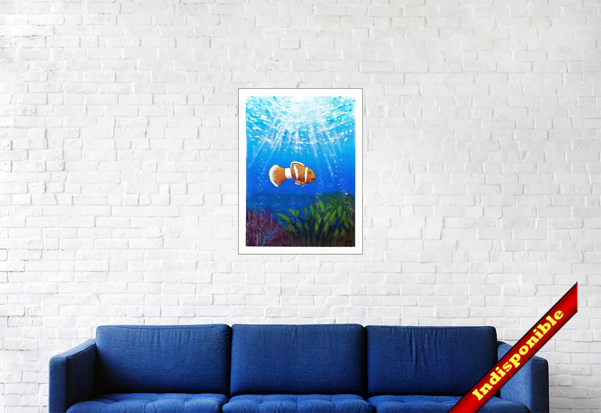 """#168 """"Nem0"""" Acrylique sur toile, 40x30 cm"""