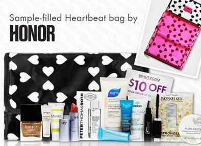 Beauty.com Honor deluxe sample bag