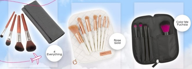 coastal scents travel brush sets on sale
