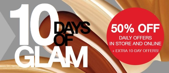 macy's 10 days of glam