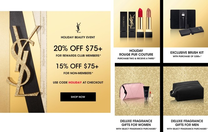 ysl beauty holiday beauty event