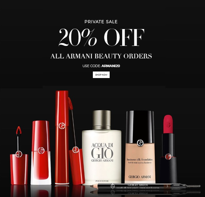 Giorgio Armani Beauty private sale
