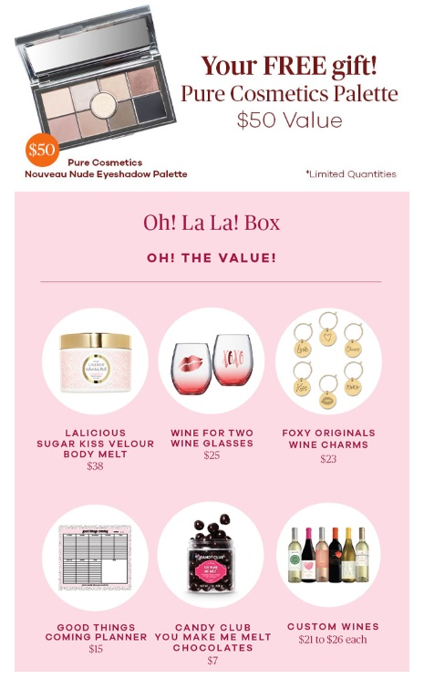 vine oh winter 2019 box and gift with purchase