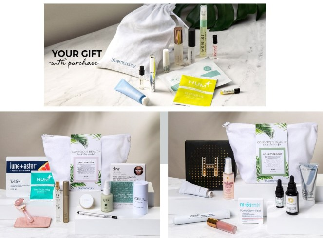 bluemercury conscious beauty gift with purchase and discovery kits