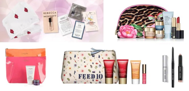 Von Maur Beauty Event gifts with purchase