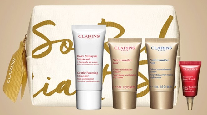 clarins time to choose gift with purchase