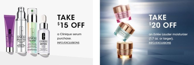 Clinique Serum Event/Estee Lauder Moisturizer Event