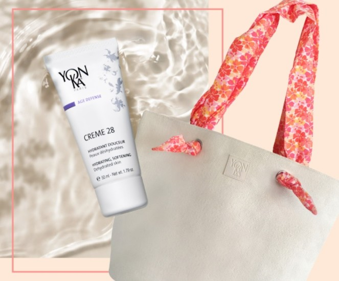 yon-ka paris creme and tote gift with purchase