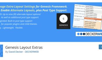 Genesis専用プラグインでレイアウト機能を簡単に拡張する方法【Genesis Layout Extras】