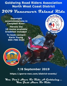 Vancouver Island Ride - September 7-8, 2019 @ Heron's Landing | Campbell River | British Columbia | Canada