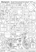 Verkehrssicheres Fahrrad Zum Ausmalen