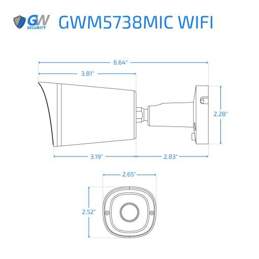 5738MIC WIFI dimensions