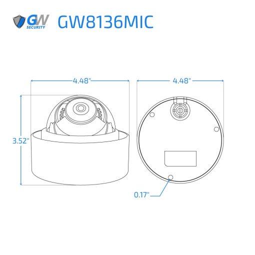 8136MIC dimensions