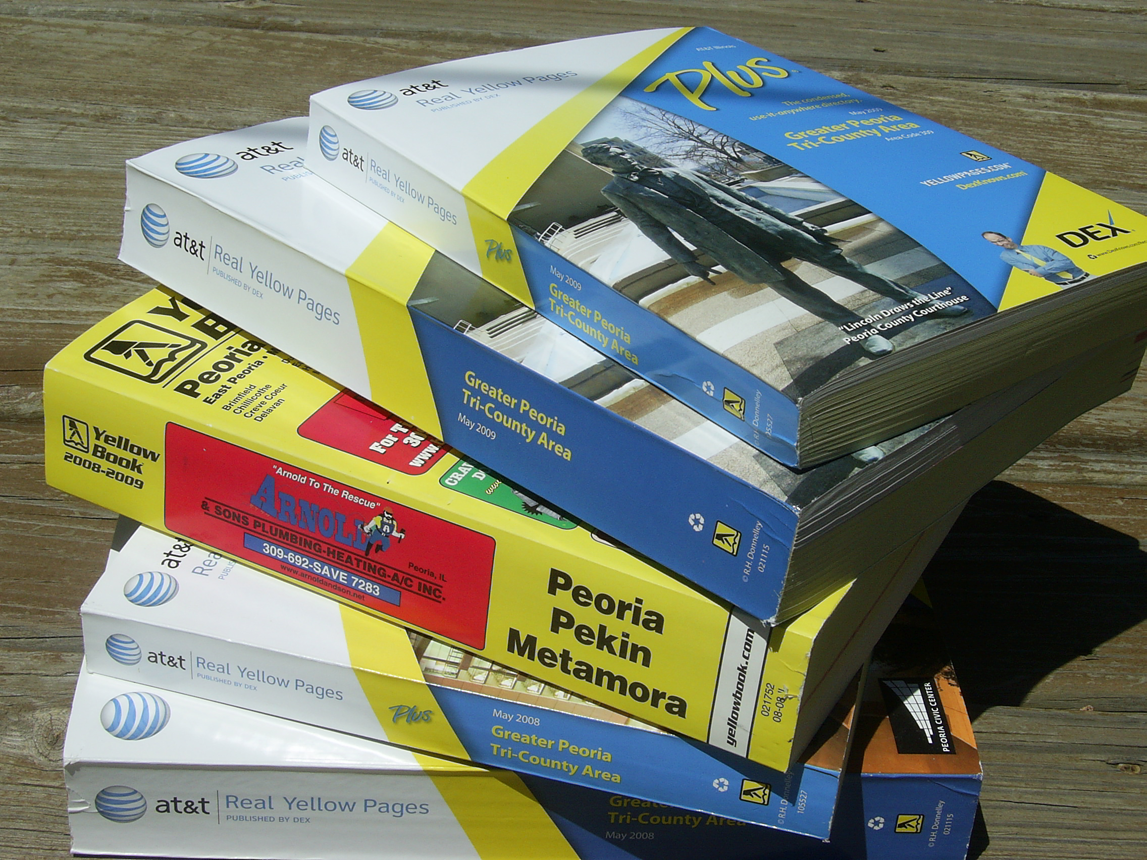 Recycling Old Phone Books