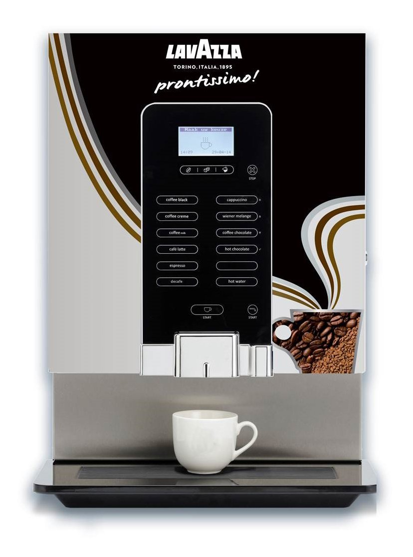 Primo with LAVAZZA prontissimo branding