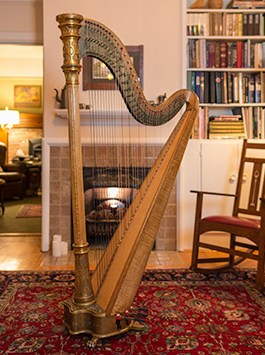 Antique Gold Harp