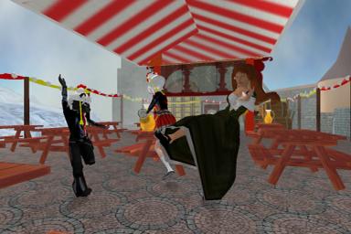 Wir tanzen in Neualtenburg's Oktoberfest