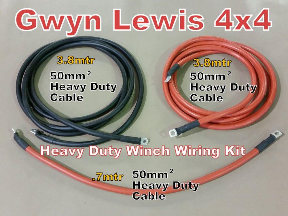 medium resolution of hd winch wiring kit gl1113 gwynlewis4x4 co uk warn electric winch wiring diagram electric winch wiring kits