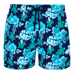 Turtle Flowers Swim Trunk