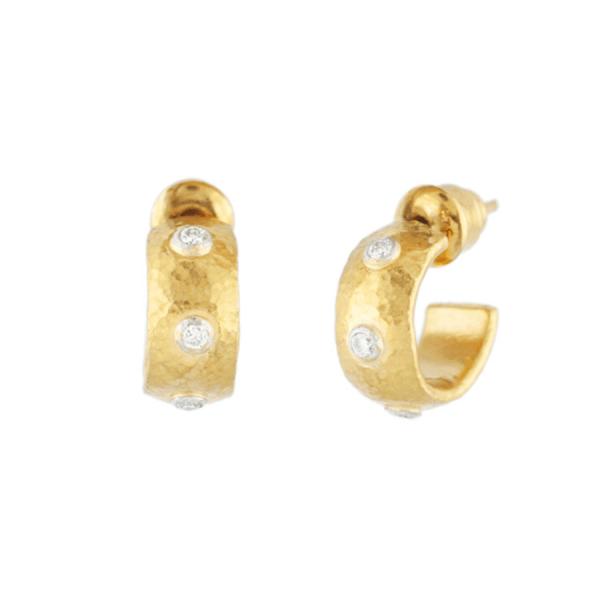 Drop Earrings with White Diamonds
