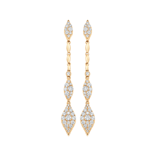 Donna Pave Diamond Drop Earring