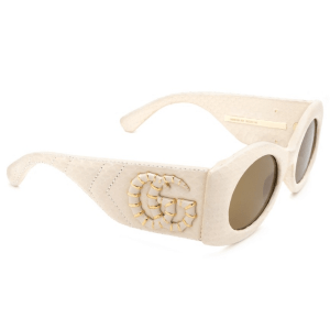 Textured Ivory Sunglasses