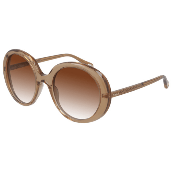 Chloe Transparent Dark Orange Sunglasses product shot front/side