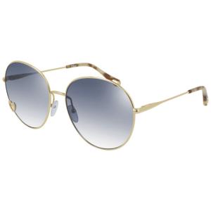 Chloe Blue Gold Rim Sunglasses product shot front side view