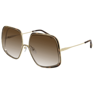 Chloe Brown Frame and Lens Sunglasses product shot front side view