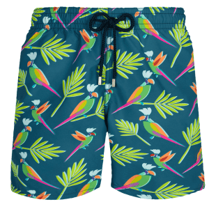 Men Swim Trunks Multicolore Parrots