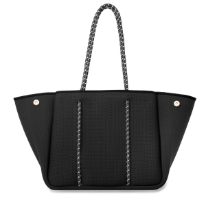 Black Neoprene Tote product shot front view