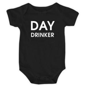 Day Drinker Onesie product shot front view