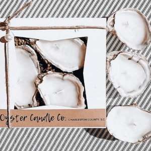 3 Piece Oyster Candle Gift Set