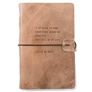 Elsie De Wolfe Quote Leather Journal product shot