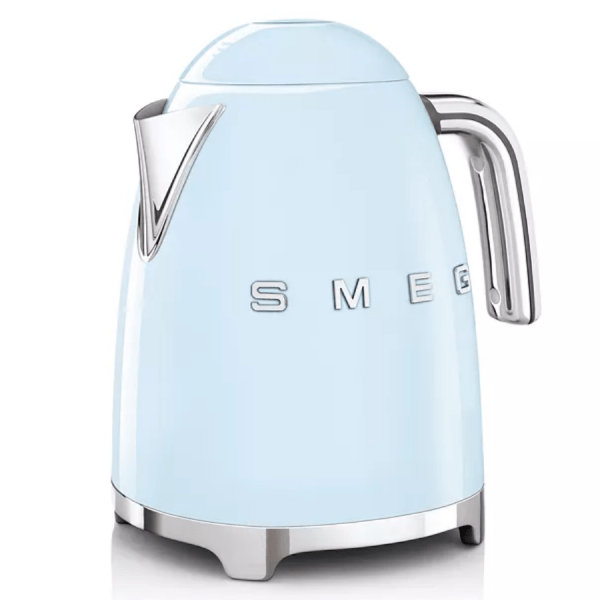 Pastel Blue Kettle product shot front side view