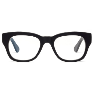 Miklos Reading Glasses in Matte Black product shot front view