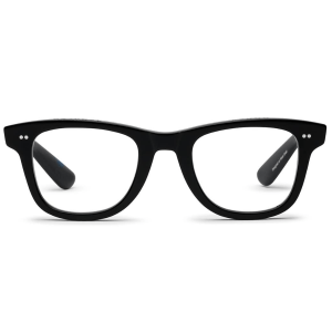 Porgy Backstage Reading Glasses in Black product shot front view